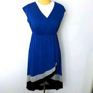 Wrap Front V-neck Dress